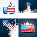 Collection of american flag background Stock Photos