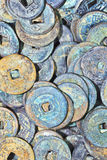 Collection ancient Chinese coins Royalty Free Stock Image