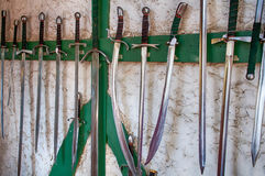 Collection of ancient swords Royalty Free Stock Image