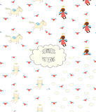 Collection of angel patterns stock illustration