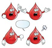 Angry blood drop set Stock Image