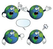 Angry Earth globe set Stock Images