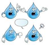 Angry water drop set Royalty Free Stock Photos