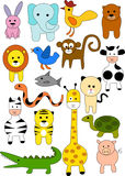 Collection of animal doodle Royalty Free Stock Photos