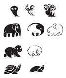 Collection of animal emblems Stock Photography