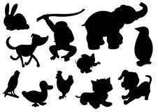 Collection of animal vector Royalty Free Stock Image