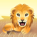 Collection animale de chéri : Lion Photographie stock