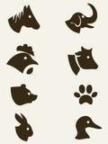 Collection animale de silhouette Images libres de droits