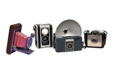 Collection of Antique Cameras Stock Photo
