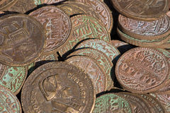 Collection of antique coins Royalty Free Stock Image