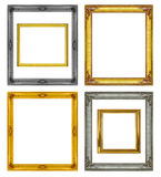 Collection antique frame isolated on white background Stock Photo