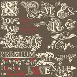 Collection of antique hand drawn ands the premium quality Stock Photos