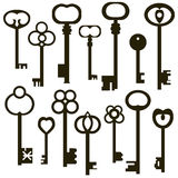 Collection of antique keys Stock Photography