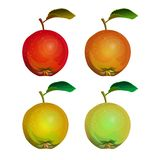 Collection of apples royalty free illustration