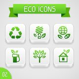 Collection of apps icons with eco elements. Set 2 Royalty Free Stock Image
