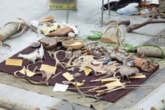 Collection Of Archaeological Remains Royalty Free Stock Photography