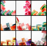 Collection of arrow abstract backgrounds Royalty Free Stock Images