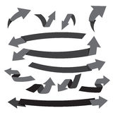 Collection of arrow for decorative and design element vector ill Stock Image