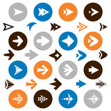 Collection of arrow icons Royalty Free Stock Images
