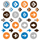 Collection of arrow icons Royalty Free Stock Photos