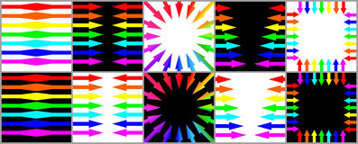 The Collection of the arrows. The Small collection of the arrows for different needs Royalty Free Stock Image