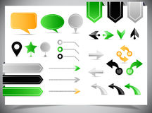 Collection of arrows, markers and pointers Stock Image