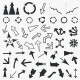 Collection of arrows5 Royalty Free Stock Images