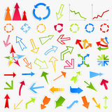 Collection of arrows6 Royalty Free Stock Images