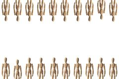 Collection of Artist mannequin Royalty Free Stock Photos