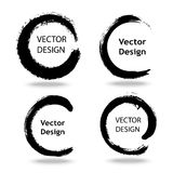 Collection of artistic creative painted circles for logo, label, branding. Stock Photography