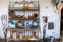 Collection of arts and crafts. This store featured an array of different items, arts and crafts Royalty Free Stock Images