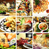 Collection of Asian dishes Royalty Free Stock Photo
