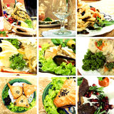 Collection of Asian dishes Royalty Free Stock Image