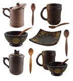 Collection with asian dishes Stock Image