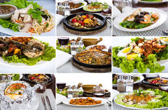 Collection of asian food stock images