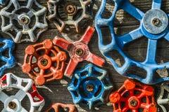 Collection assortie de boutons de valeur de l'eau Photo libre de droits