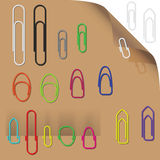 Collection of attractive paper clips (ready to use) Stock Photo