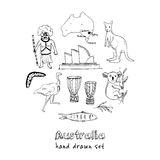 Collection of Australia doodle vector illustrations. Collection of Australia doodle  vector illustrations Royalty Free Stock Photos