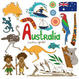 Collection of Australia icons Stock Photography