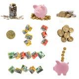 Collection australienne d'argent Images libres de droits