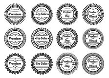 Collection of authentic labels isolated on white  background Royalty Free Stock Photo