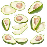 Collection of avocados Royalty Free Stock Image