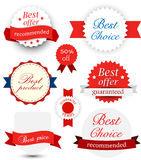 Collection of award badges Royalty Free Stock Photos