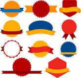 Collection of award badges Stock Photo