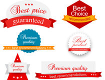 Collection of award badges Royalty Free Stock Image