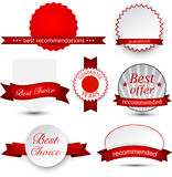 Collection of award badges Royalty Free Stock Photo