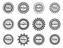 Collection award stamp for design adn graphic studios Royalty Free Stock Photo