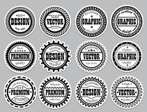 Collection award sticker for design Royalty Free Stock Photography