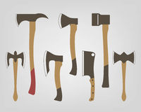 Collection of axes Stock Photos