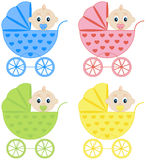 Collection of baby carriages Stock Photography